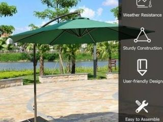Square Cantilever Offset Umbrella Weights Base Water Sand Filled Retail 143 49