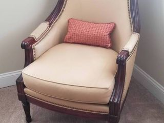 Lovely Tan Bergere Chair
