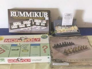 Assorted Games: Monopoly, Chess, Rummy,