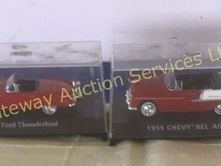 Vintage Toy Cars: 1956 Ford Thunderbird and 1955..