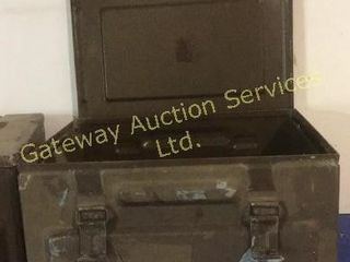 Vintage Ammo Metal Boxes (2)