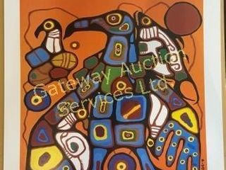 Man Changing Into Thunderbird by Norval Morrisseau