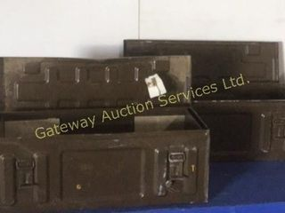 Metal Ammo Boxes 26 inches L 10 inches W 9.5 high