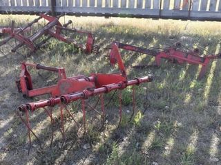 3 - 5Ft. Mounted Tine Harrows, Loc: OK Tire Lot,