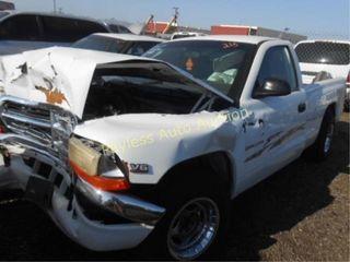 1999 Dodge Dakota 1B7FL26X4XS217132 White