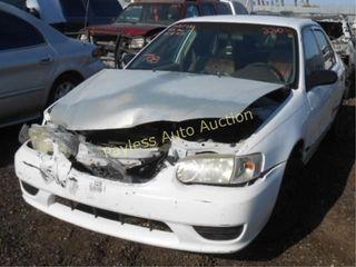 2001 Toyota Corolla 1NXBR12E01Z496193 White