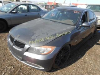 2008 BMW 3 Series WBAVB73588VH24999 Gray