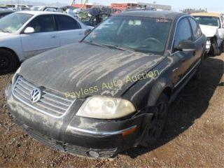 2005 Volkswagen Passat WVWAD63B65P027548 Black