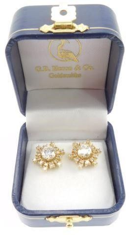 Lot #14: 1 pair of 14k yellow gold ladies
