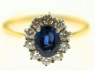 Lot #1: 18k ladies cluster cocktail ring 18k