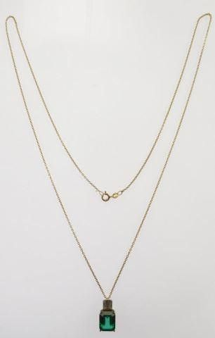 Lot #4: Sterling silver ladies 4 Prong pendant