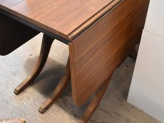 Wooden Drop Leaf Table with Claw Feet and 2 14