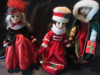Effanbee with Christmas Dolls