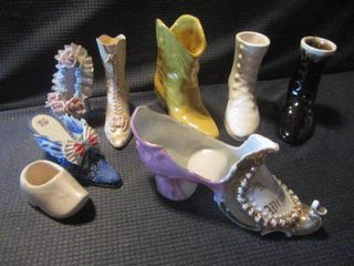 Collectible Glass & Frankoma Shoes