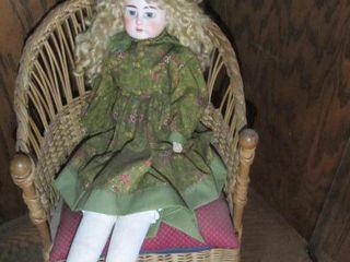 Wicker Chair & Doll