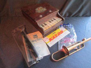 Doll Piano, Conn Flute, Kazoo