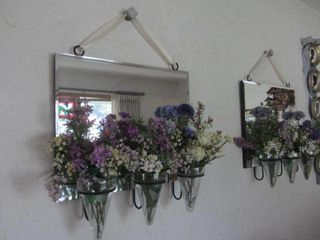Beveled Mirrors with Posie Holders