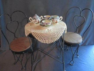 Doll Ice Cream Table & Chairs