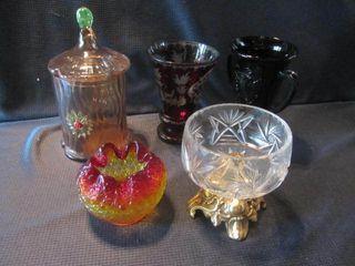Art Glass, Ruby, Black Amethyst