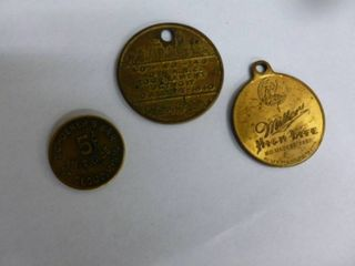 Vintage Brass Tokens