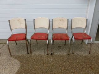 Vintage Metal Patio Chair Set