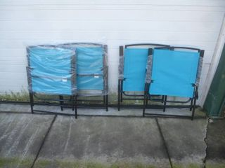 Folding Chairs Blue