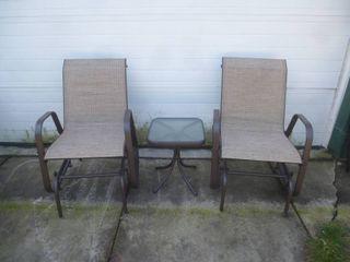 Glider Chair Patio Set