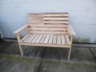 Patriotic Bench Seat