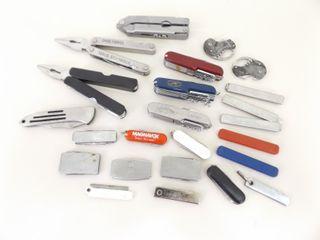 Lot of Pocket Knives, Utility Knives, etc.