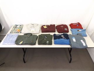 Lot of 11 NEW with Tags Large Mens Dressier Shirts