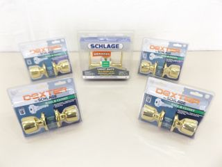 Lot of NEW in Box Schlage Door Lock and Handle Sets
