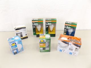 Lot of NEW Various Wattage LED Lightbulbs