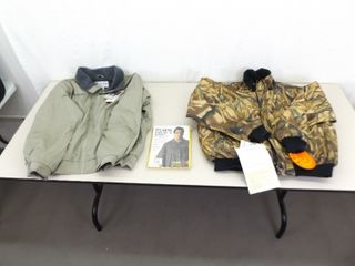 2 NEW Large Mens Winter Jackets and Rain Poncho