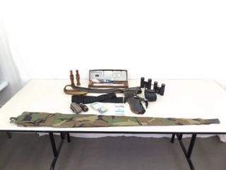 Lot of Misc Hunting, Duck Calls, Binoculars, etc.