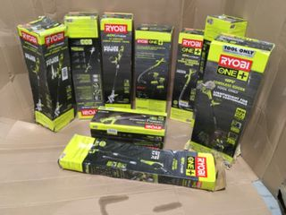 ASSORTED RYOBI GARAGE/ OUTDOOR TOOLS! CUSTOMER RETURNS SEE PICS!