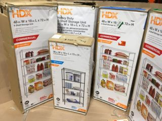 HDX SHELVING WITH DIFFERENT SIZES! CUSTOMER RETURNS SEE PICS!