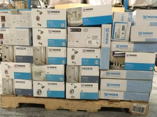 PALLET WITH MOEN COMPLETE FAUCET SETS! SEE PICS!