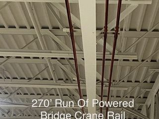 Approx 270ft Linear Run Of Bridge Crane Rail & Power Strip