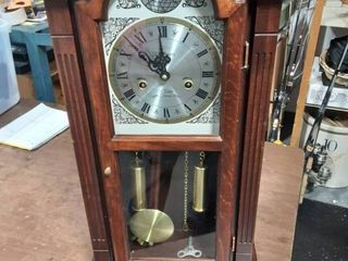 Waltham Wall Clock Tempus Fugit 31 Day Chime (Chimes On The Hour) With Key 27x16