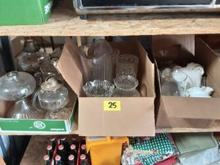 3-Boxes Of Oil lamps, Vases, Crystal & Misc.