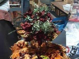 36x24 Bevelled Glass Oval Wall Mirror, Fall & Seasonal Floral Arrangements