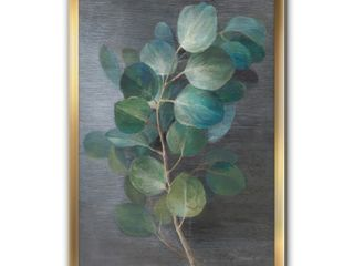Designart  Fresh leaves I  Traditional Framed Art Print  Retail 146 49