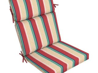 Arden Selections Keeley Stripe Outdoor Dining Chair Cushion   44 in l x 21 in W x 4 5 in H