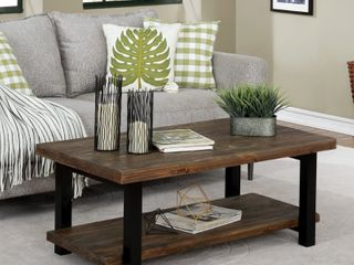 Carbon loft lawrence Reclaimed Solid Wood 42 inch Coffee Table  Retail 295 49