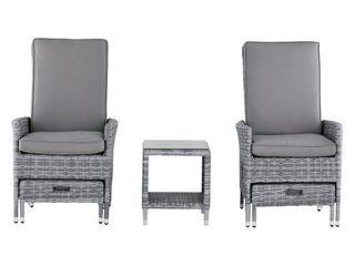 Elle Decor Vallauris Outdoor 5 Piece Reclining Set   Outdoor Wicker  Retail 749 99