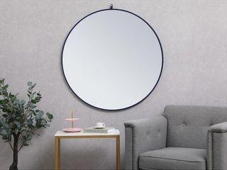 Carson Carrington labbemala Metal Frame Round Mirror  Retail 75 48