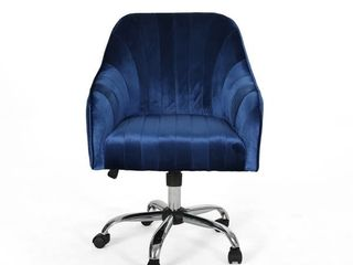 Channeled Glam Velvet Home Office Chair with Swivel Base by Christopher Knight Home  Retail 232 99