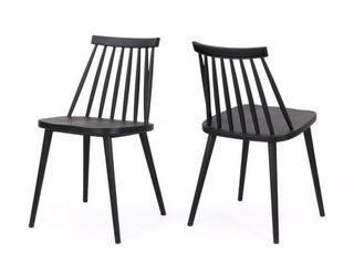 Dunsmuir Farmhouse Spindle Back Dining Chair  Set of 2  by Christopher Knight Home  Retail 118 49