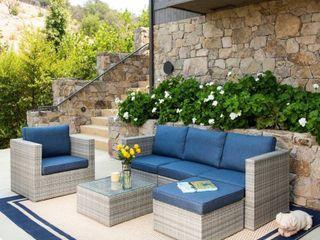 5 Piece Wicker sofa set with chair