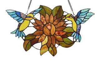 Gracewood Hollow Bolamba Stained Glass Birds Flowers Window Suncatcher